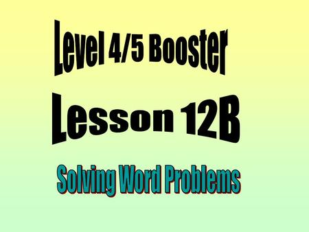 Solve word problems and investigate in a range of contexts.