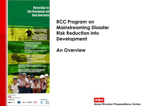 Background of RCC MDRD Program
