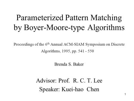 Parameterized Pattern Matching by Boyer-Moore-type Algorithms