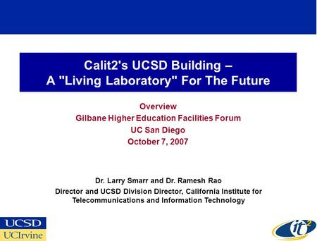 Calit2's UCSD Building – A Living Laboratory For The Future