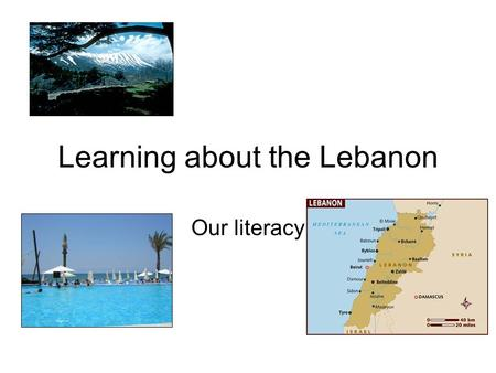 Learning about the Lebanon