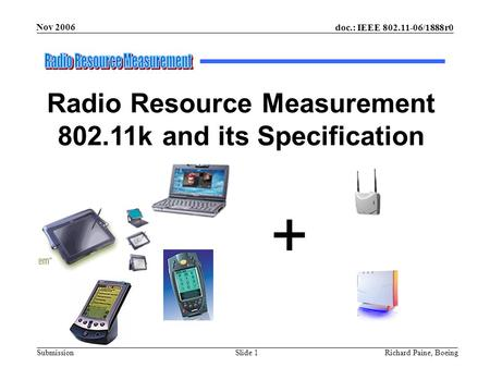 Radio Resource Measurement k and its Specification