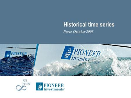 Historical time series Paris, October 2008. Quarterly Mutual Fund Sales &AUM Report | September 2008 | Page 2 Introduction (1) The research department.
