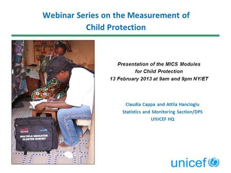 Webinar Series on the Measurement of Child Protection