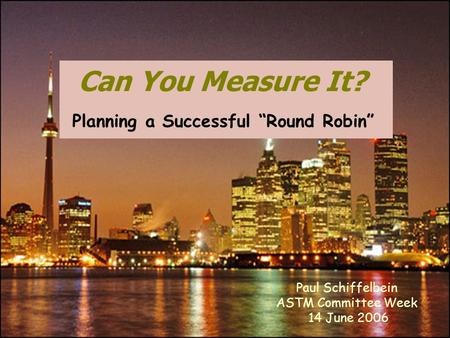 "Planning a Successful ""Round Robin"""