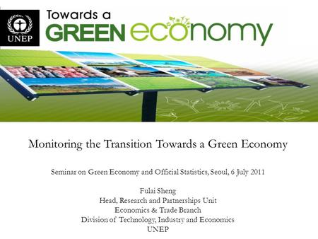 Monitoring the Transition Towards a Green Economy