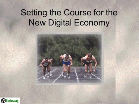 Setting the Course for the New Digital Economy. The Elements of the New Digital Economy Content and Services Growth of content and service consumption.