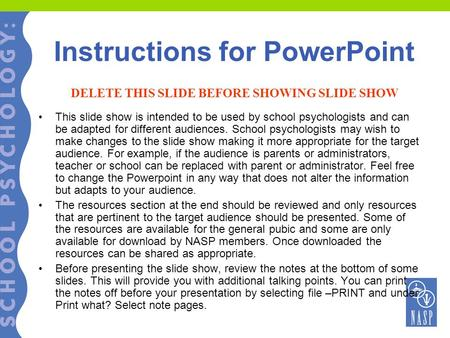 Instructions for PowerPoint