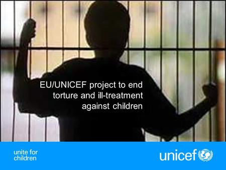 1 EU/UNICEF project to end torture and ill-treatment against children.