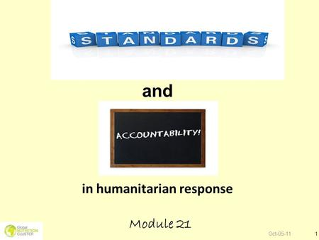 and in humanitarian response