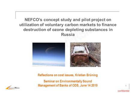1 confidential NEFCOs concept study and pilot project on utilization of voluntary carbon markets to finance destruction of ozone depleting substances in.