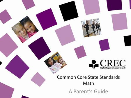 Common Core State Standards Math A Parents Guide.