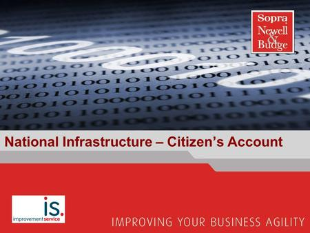National Infrastructure – Citizen's Account