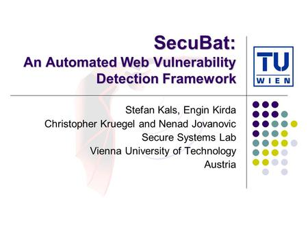 SecuBat: An Automated Web Vulnerability Detection Framework