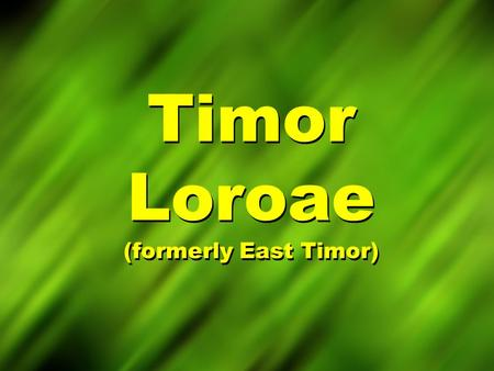 Timor Loroae (formerly East Timor). Map of Timor.