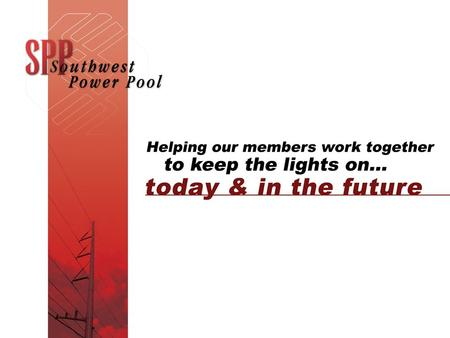 www.spp.org 2 Draft of proposed metrics for the WEQ BPS to conduct analysis and evaluation of the Parallel Flow Visualization pilot project. (PFV Pilot)