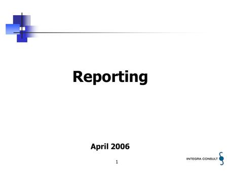 1 Reporting April 2006. 2 Safety Policy Regulator Service Provider Service Provider Service Provider Regulator to established SRF to harmonize reporting.