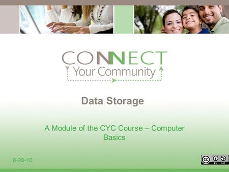 Data Storage A Module of the CYC Course – Computer Basics 8-28-10.