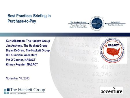 Best Practices Briefing in Purchase-to-Pay