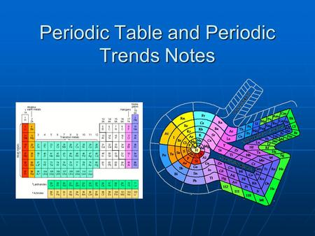 Periodic Table and Periodic Trends Notes