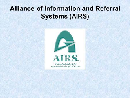Alliance of Information and Referral Systems (AIRS)