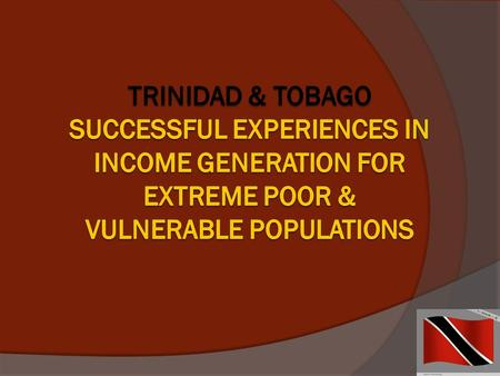 1. Trinidad and Tobagos Response to Impacting Global Events Global Economic Crisis (2007-present) preceded by the Global Food Crisis (2006-2008) negatively.
