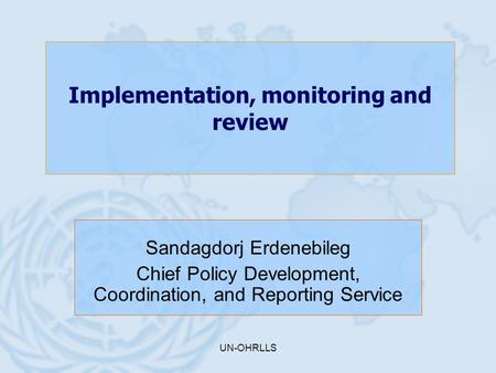 Implementation, monitoring and review