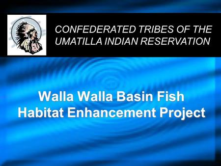 Walla Walla Basin Fish Habitat Enhancement Project CONFEDERATED TRIBES OF THE UMATILLA INDIAN RESERVATION.