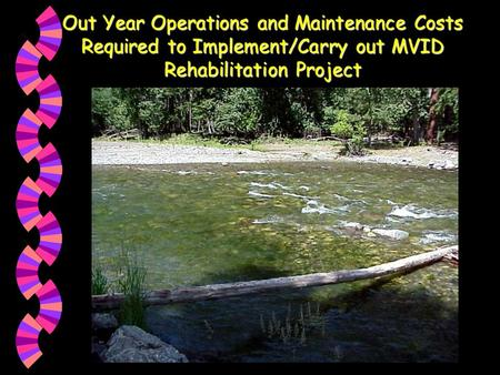 Out Year Operations and Maintenance Costs Required to Implement/Carry out MVID Rehabilitation Project.