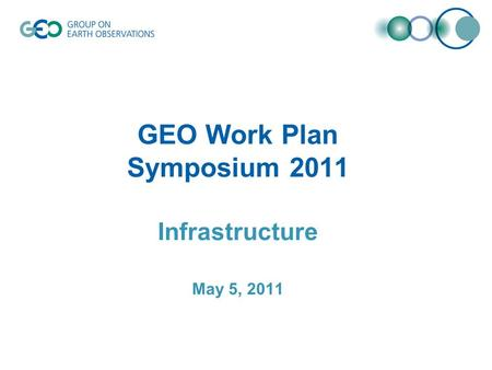 GEO Work Plan Symposium 2011 Infrastructure May 5, 2011.