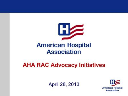 AHA RAC Advocacy Initiatives April 28, 2013. Overview of Audit Concerns Recovery Auditors are biased due to contingency fee payments Recovery Auditors.
