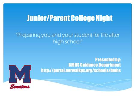 Junior/Parent College Night