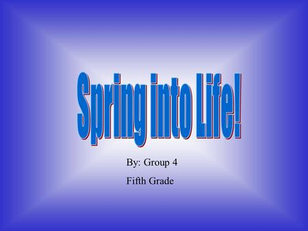 Spring into Life! By: Group 4 Fifth Grade.