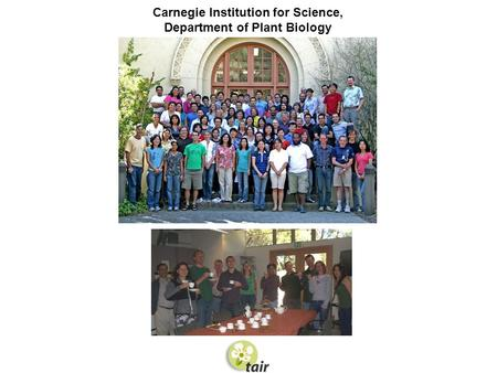 Carnegie Institution for Science, Department of Plant Biology.
