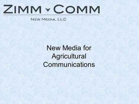 New Media for Agricultural Communications. RSS RSS is a family of web feed formats used to publish frequently updated content such as blog entries, news.