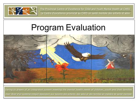 Program Evaluation. Overview and Discussion of: Objectives of evaluation Process evaluation Outcome evaluation Indicators & Measures Small group discussions.