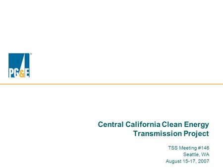 Central California Clean Energy Transmission Project