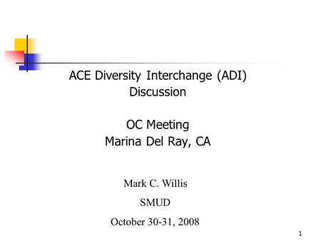 ACE Diversity Interchange (ADI)