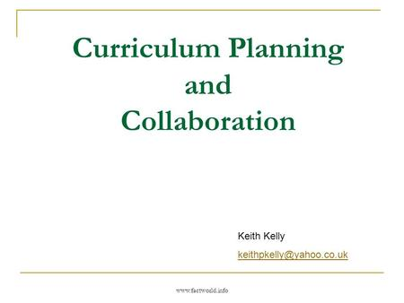 Curriculum Planning and Collaboration