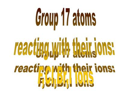 reacting with their ions: