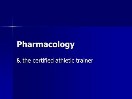 & the certified athletic trainer