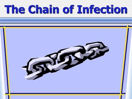The Chain of Infection. As healthcare professionals, it is important to understand two facts about infection As healthcare professionals, it is important.