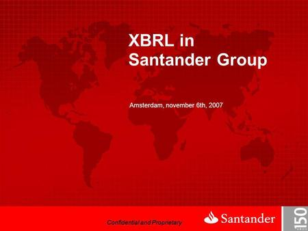 XBRL in Santander Group