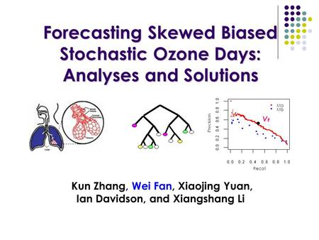Forecasting Skewed Biased Stochastic Ozone Days: Analyses and Solutions Forecasting Skewed Biased Stochastic Ozone Days: Analyses and Solutions Kun Zhang,