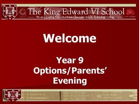 Welcome Year 9 Options/Parents Evening. Core Pathway (GCSEs) English Language English Literature or Media Studies Maths Science.