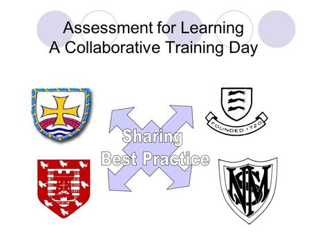 Assessment for Learning A Collaborative Training Day.