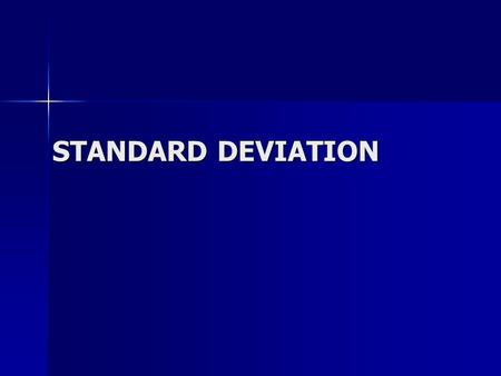 STANDARD DEVIATION. Quartiles from Frequency Tables 15-Feb-14Created by Mr Lafferty Maths Dept Statistics www.mathsrevision.com Reminder ! S5 Int2 Range.