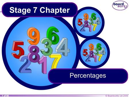 Stage 7 Chapter Percentages.