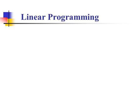 Linear Programming. Businesses use linear programming to find out how to maximize profit or minimize costs. Most have constraints on what they can use.