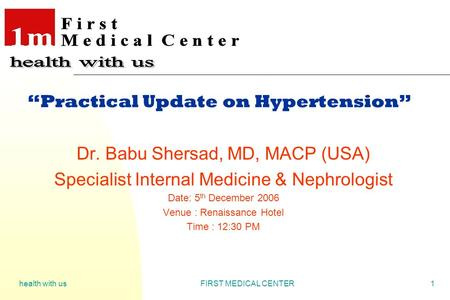 """Practical Update on Hypertension"""